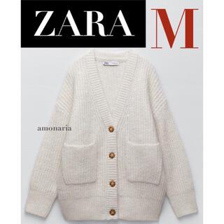 ザラ(ZARA)の【新品/未着用】ZARA ポケット付きニットカーディガン ニットカーディガン(カーディガン)