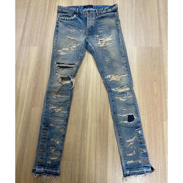 TYPE-1 SLIM DESTROYED JEANS – INDIGO 30 メンズのパンツ(デニム/ジーンズ)の商品写真