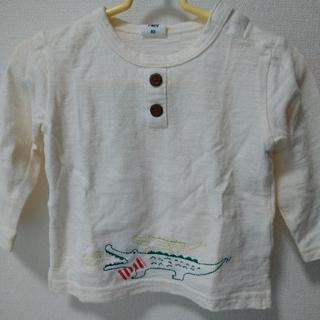 アカチャンホンポ(アカチャンホンポ)のワニさん刺繍ロンT(サイズ80)(Tシャツ)