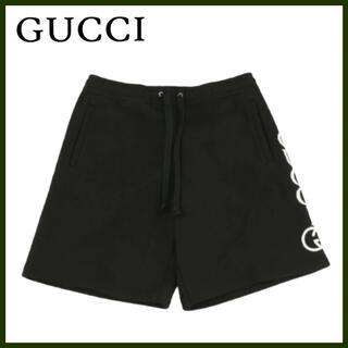 Gucci - グッチ GUCCI  正規品 ロゴハーフパンツ スウェットショートパンツ