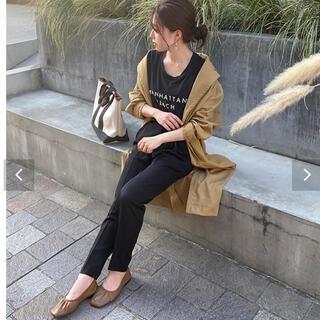 コウベレタス(神戸レタス)のハイウエストテーパードパンツ ブラック(カジュアルパンツ)