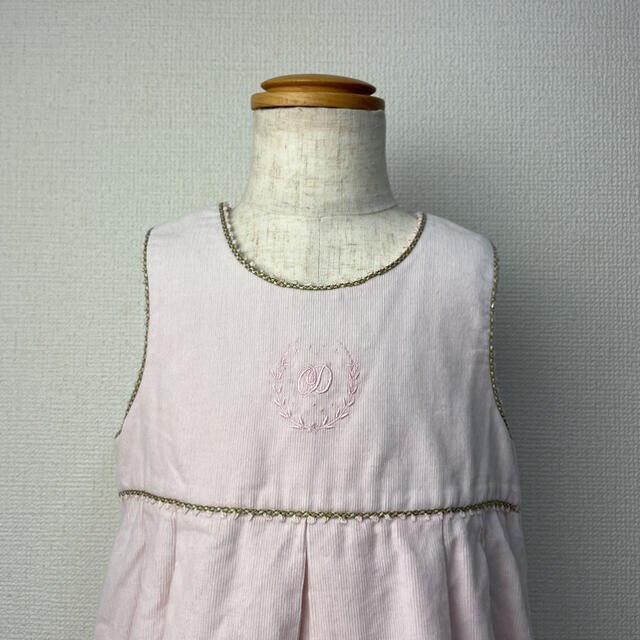 baby Dior(ベビーディオール)のbabyDior ベビーディオール コーデュロイ ワンピース キッズ/ベビー/マタニティのキッズ服女の子用(90cm~)(ワンピース)の商品写真