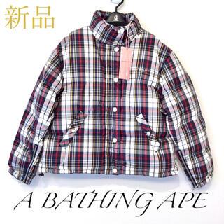 アベイシングエイプ(A BATHING APE)の【新品タグ付】APE アベイシングエイプ ダウン ジャケット レディース(ダウンジャケット)