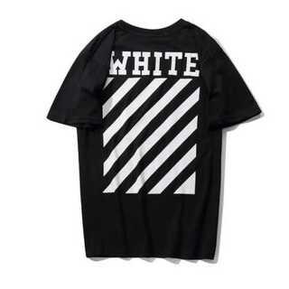 新裏文字 Tシャツ メンズ オーバーサイズ オフホワイト 黒 ブラック