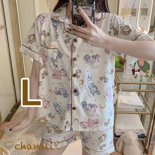 ダッフィー(ダッフィー)のダッフィーフレンズ パジャマ 半袖 ルームウェア Lサイズ レディース (パジャマ)