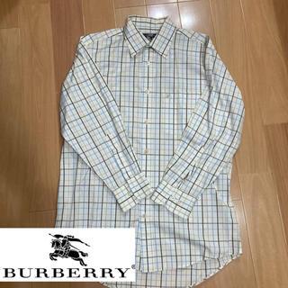 BURBERRY - 【美品】Burberry/バーバリー チェックシャツ 七分丈 ホワイトチェック