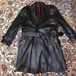 Jean-Paul GAULTIER - 90s Leather Trench Coat 羊革 日本製