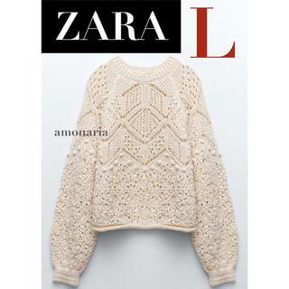 ザラ(ZARA)の【新品/未着用】 ZARA ポインテールセーター 透かし編みニットセーター (ニット/セーター)