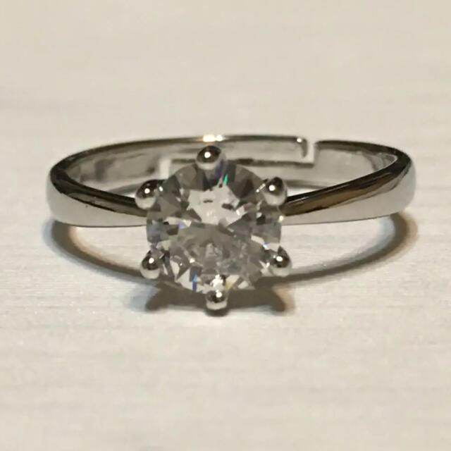 最上級 MOISSANITE Diamond 一粒リング 10号  レディースのアクセサリー(リング(指輪))の商品写真