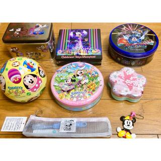 ミッキーマウス - ミッキー ミニー ディズニー 缶 歯ブラシ ミラーキーホルダー グッズ