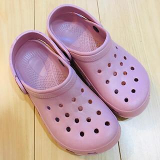 crocs - クロックス風 サンダル ピンク 23.5cm