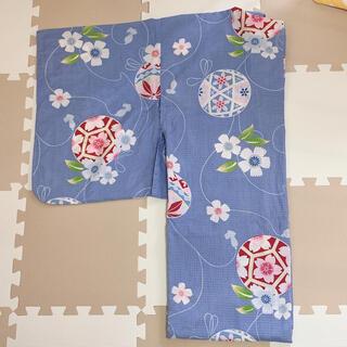 ユニクロ(UNIQLO)の鞠と桜柄 浴衣単品(浴衣)