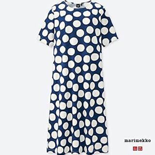 マリメッコ(marimekko)の新品タグ付きUNIQLO Marimekko グラフィックワンピース(半袖)(ロングワンピース/マキシワンピース)