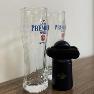 サントリー(サントリー)のプレミアムモルツ グラス2個&神泡サーバーセット(ビール)