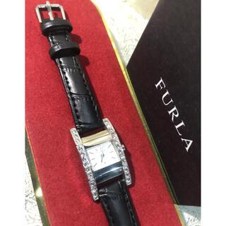 フルラ(Furla)の★FURLA フルラ キラキラ ストーン スクエア レディース 腕時計 ★保管品(腕時計)