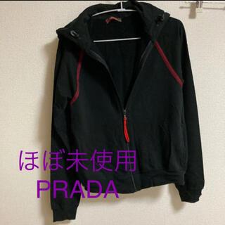 PRADA - 試着のみ PRADA プラダ パーカー 赤ジップ