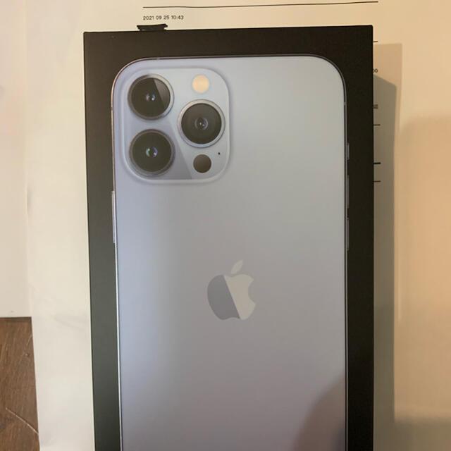 iPhone(アイフォーン)のiPhone 13 Pro Max 256GB シエラブルー スマホ/家電/カメラのスマートフォン/携帯電話(スマートフォン本体)の商品写真