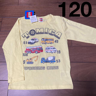 タカラトミー(Takara Tomy)の新品タグ付き トミカ  長袖カットソー ロンT  120㎝(Tシャツ/カットソー)