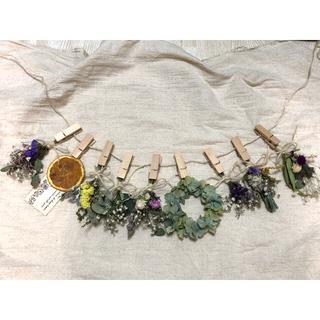 ミニスワッグガーランド 紫陽花リース