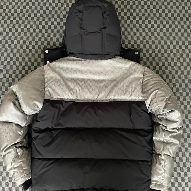 Gucci(グッチ)のGUCCI グッチ QUILTED ダウンジャケット ブラックxシルバー46 M メンズのジャケット/アウター(ダウンジャケット)の商品写真