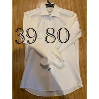 ORIHICA - オリヒカ ORIHICA 39-80 ストレッチ ワイシャツ 白 メンズ