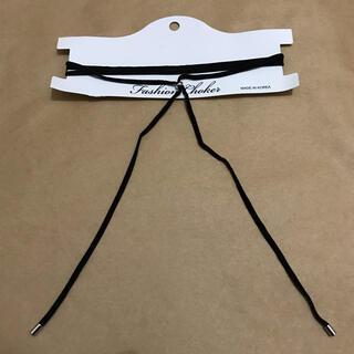 ウィゴー(WEGO)のWEGO ベロアロングチョーカー 黒(ネックレス)