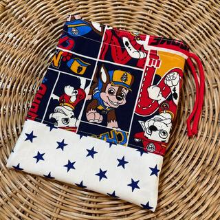 handmade:コップ袋 パウパトロール 巾着 ④