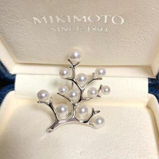 MIKIMOTO - ミキモト幸福の木 現行品ブローチ シルバー