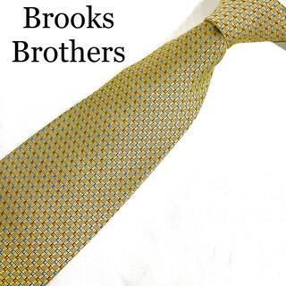 ブルックスブラザース(Brooks Brothers)のブルックスブラザーズ ネクタイ ゴールド スクエア 総柄 マルチカラー シルク(ネクタイ)