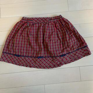 familiar - familiar チェック スカート 90