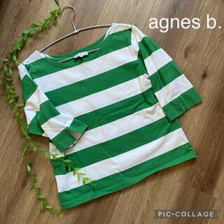 agnes b. - アニエスベー 5部袖ボーダーTシャツ
