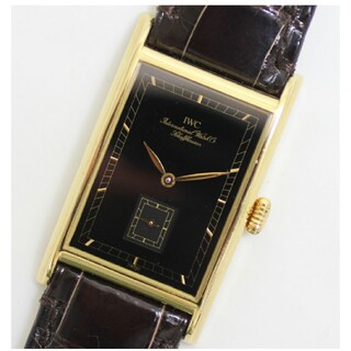 インターナショナルウォッチカンパニー(IWC)のIWC シャフハウゼン K18YG 金無垢 スモセコ ブラックダイヤル 手巻き(腕時計(アナログ))