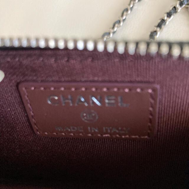 CHANEL(シャネル)の*専用になりました*美品 シャネル ミニチェーンウォレット キャビアスキン レディースのバッグ(ショルダーバッグ)の商品写真