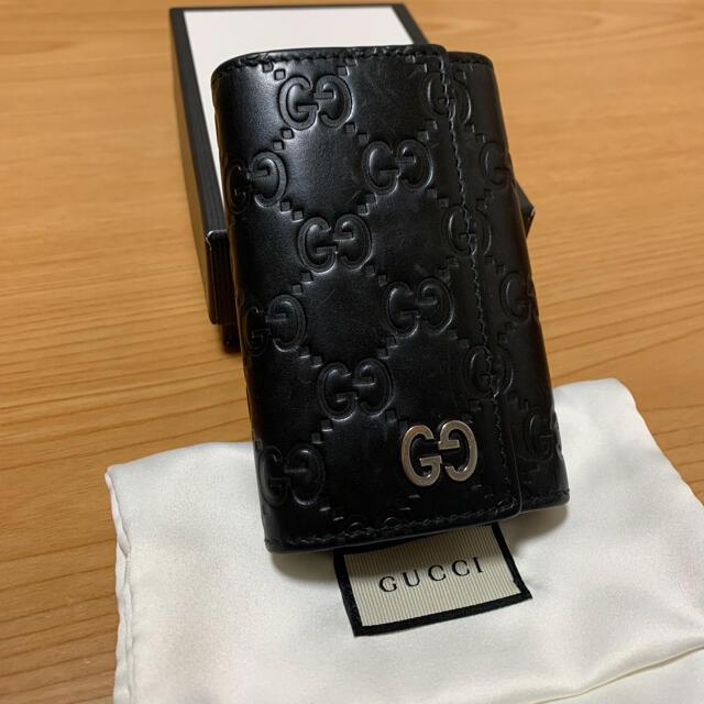 Gucci(グッチ)のGUCCI グッチシマレザー 6連キーケース キーホルダー付き メンズのファッション小物(キーケース)の商品写真