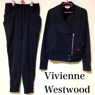 ヴィヴィアンウエストウッド(Vivienne Westwood)のVivienne Westwood ☆ 美品 ハート襟 スウェット セットアップ(トレーナー/スウェット)