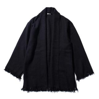 コモリ(COMOLI)のCOMOLI ストールジャケット 20AW NAVY フリーサイズ未使用品(カーディガン)