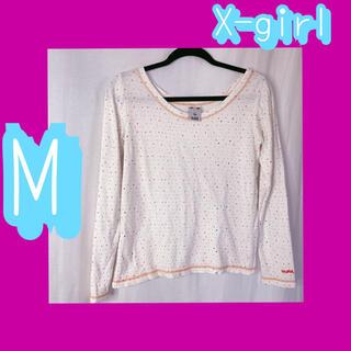 エックスガール(X-girl)のM X-girl 袖ロゴロンT 長袖カットソー(Tシャツ(長袖/七分))