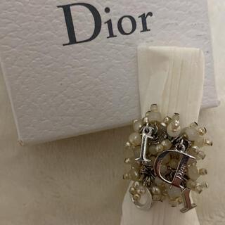 Christian Dior - Cristian Dior パール大ぶりロゴチャームリング 9号11号 指輪