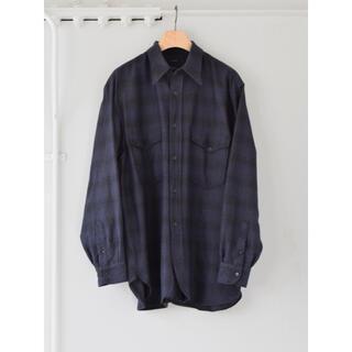 COMOLI - 【21AW/新品】comoli ウールシルク ワークシャツ ネイビー サイズ 1