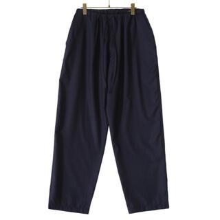 コモリ(COMOLI)の【21AW/新品】comoli ウールフラノ ドローストリングパンツ サイズ 1(スラックス)