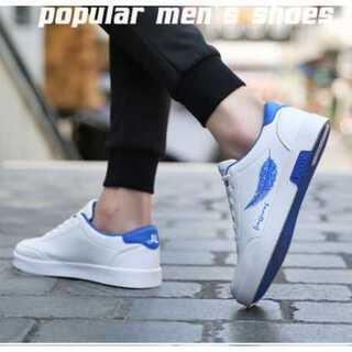 ローカット 白 青 メンズ 26cm ホワイト 靴 シューズ スニーカー