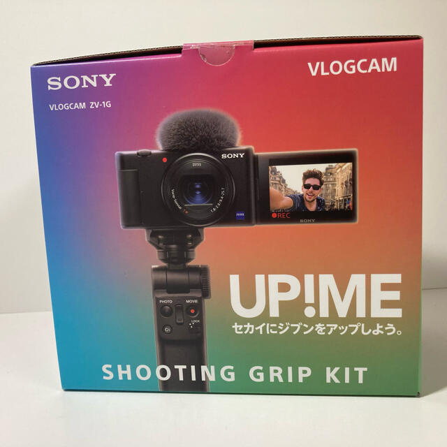 SONY(ソニー)のSONY VLOGCAM ZV-1G グリップキット付き スマホ/家電/カメラのカメラ(コンパクトデジタルカメラ)の商品写真