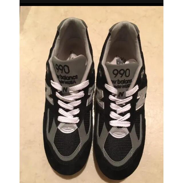 New Balance(ニューバランス)のNew Balance(ニューバランス)>M990BL2  990v2 ブラック メンズの靴/シューズ(スニーカー)の商品写真