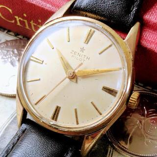 ゼニス(ZENITH)の#1638【シックでお洒落】メンズ腕時計 ゼニス 動作良好 ヴィンテージ 機械式(腕時計(アナログ))