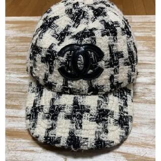 素敵?★シャネル ★ロゴ ブラック 帽子ノベルティキャップ #66985