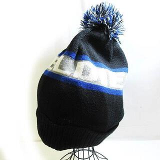 ディーゼル(DIESEL)のディーゼル DIESEL ニットキャップ 帽子 ポンポンつき 黒 0923(その他)
