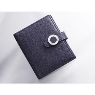 BVLGARI - K1362 良品 ブルガリ 本革 二つ折 カード ミニ手帳カバー