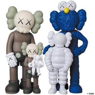 MEDICOM TOY - Kaws Family Brown Blue  White
