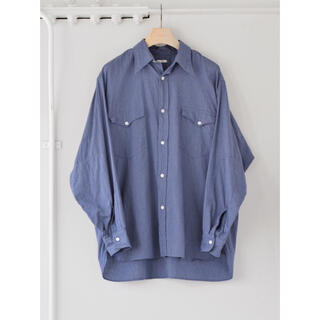 COMOLI - 【値下げ】COMOLI 21AW ヨリ杢ワークシャツ