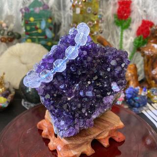超濃い 天然 アメジスト 水晶 鉱石 原石 置物 自然 科学 賞石鉱物標本